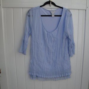 Soft Surroundings Blue Feminine Top PL